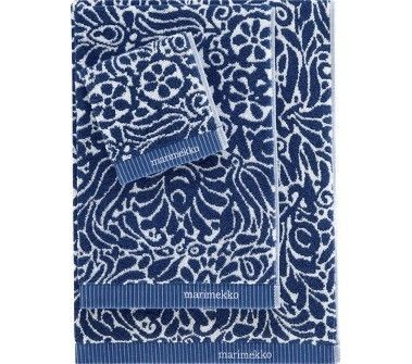 Crate barrel marimekko tamara cobalt bath towels home - Cobalt blue bathroom accessories ...