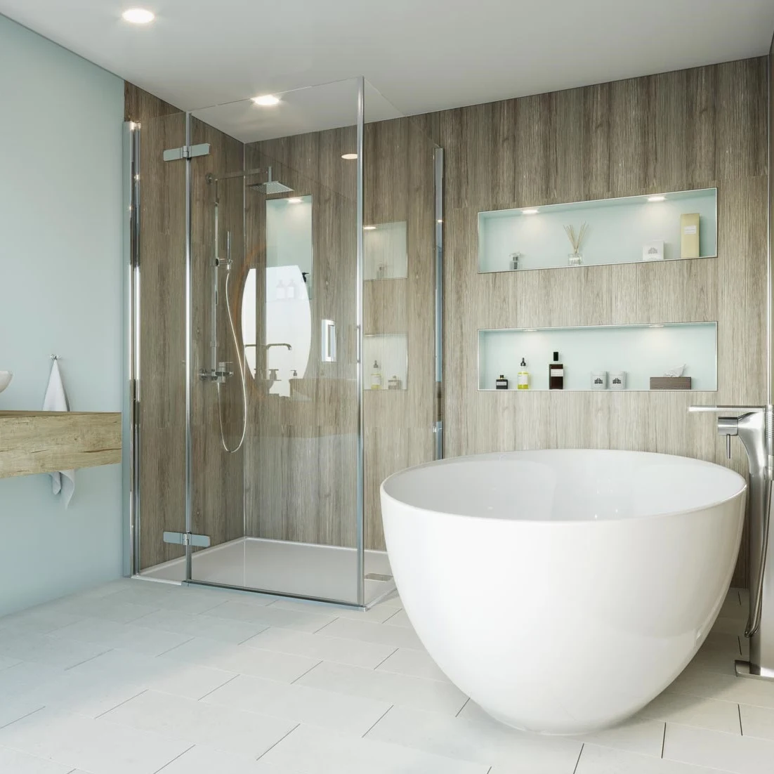 Multipanel Click Premier Floor Tiles White Diamond 1 8m2 Bathroom Wall Panels Flooring Stunning Interiors
