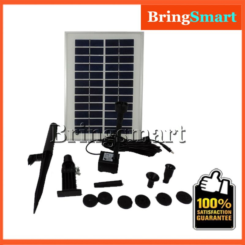 Jt 280 5w Water Pump 400l H 160cm 12v Dc Brushless Solar Fountain Pump Kit Water Pond Submersible Pump With Solar Solar Fountain Submersible Pump Fountain Pump