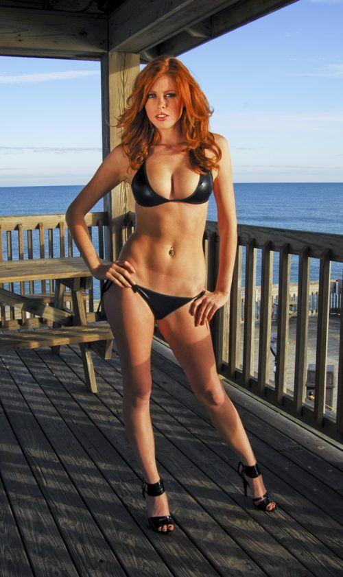 Redhead female fitness girls