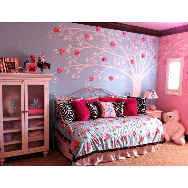 A perfectly pink rose tiffany blue room. ❤ liked on Polyvore