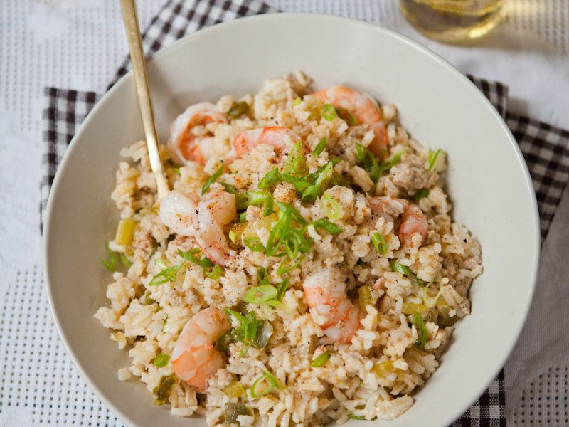 Dirty rice with shrimp dirty rice rice and wine dinners dirty rice with shrimp food wine forumfinder Images