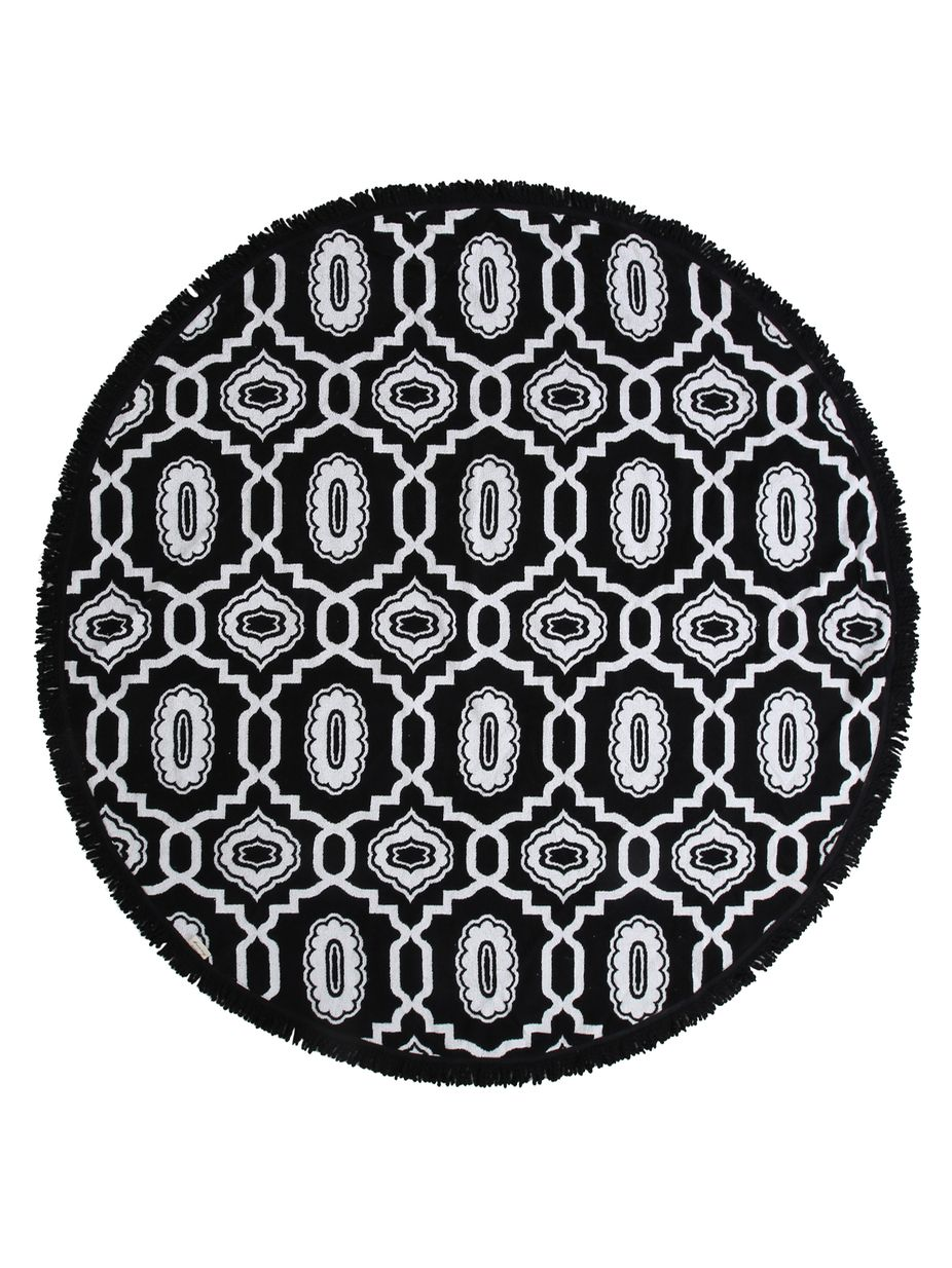 666b86723 Fine Living Masai Jacquard Round Beach Towel | Fashion Home ...