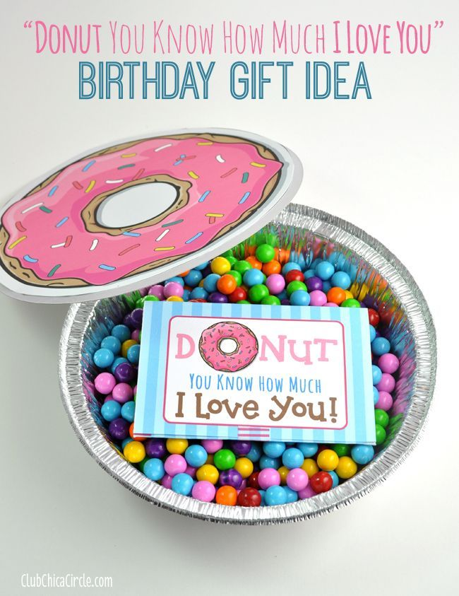 Cute Donut Quote Gift Card Printable And Homemade Birthday Idea By Club Chica Circle