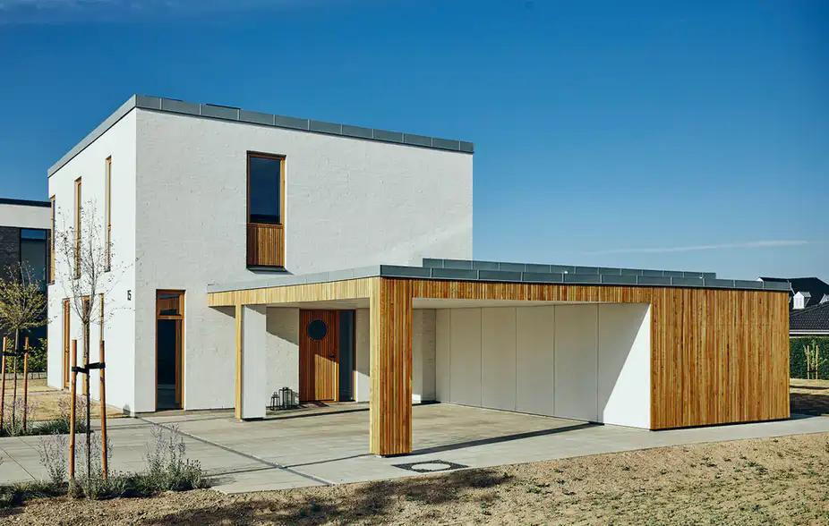 8 Fine Arkitekttegnede Garager Og Carporte In 2020 Garage Dach Haus Carport