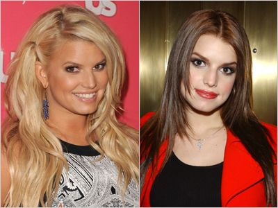 jessica simpson blonde hair color sisters jessica simpson brunette is natural brunette and her sister ashlee blonde who would have thought celeb natural hair color reveals thatll truly shock you amazing