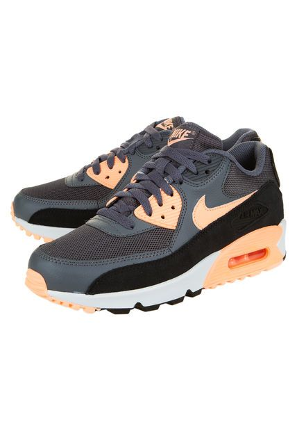Zapatilla Gris Nike Air Max 90 Essential | Nike air max, Air ...