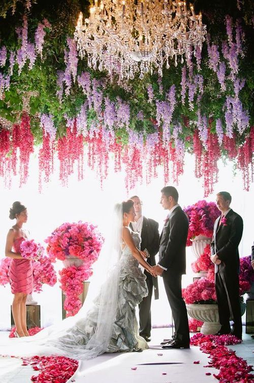 Absolutely Stunning Floral Ceiling | Polished 2 Perfection Event Planning & Design
