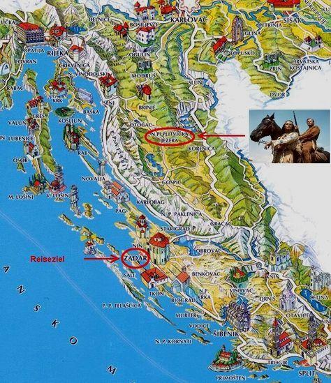 Karte Kroatien Kroatien Reisen Kroatien Urlaub Kroatien