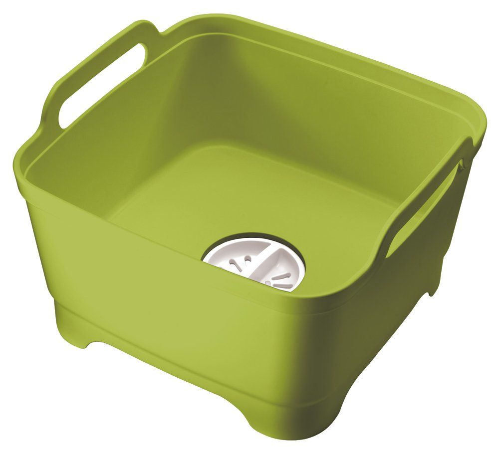 Joseph Joseph Wash and Drain Dish Tub, Green