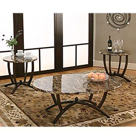 Best Faux Marble 3 Piece Occasional Table Set Faux Marble 400 x 300