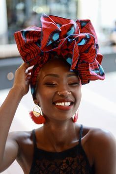 African Fabric Headwrap, Turban Wax, Women's Scarf