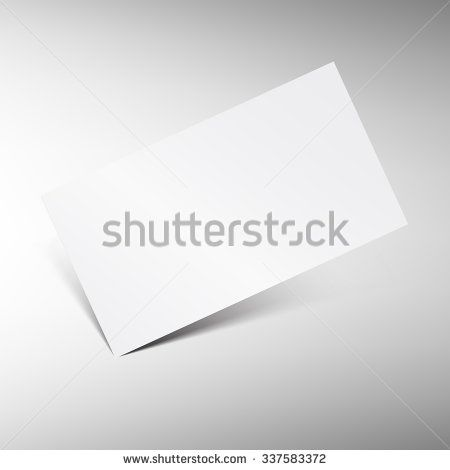 Blank business card vector template Isolated white paper business - blank memo template