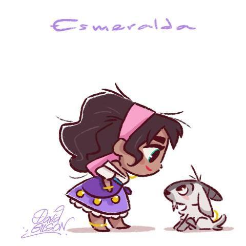 Esmeralda by David Gilson imagenes Pinterest Dessin, Disney et