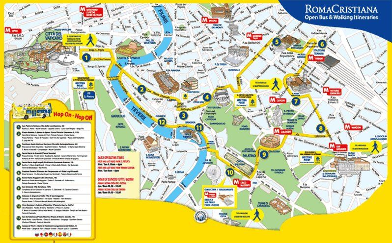 Rome Map Tourist Attractions Httptravelquazcomromemap - 10 safety tips for travelers to rome
