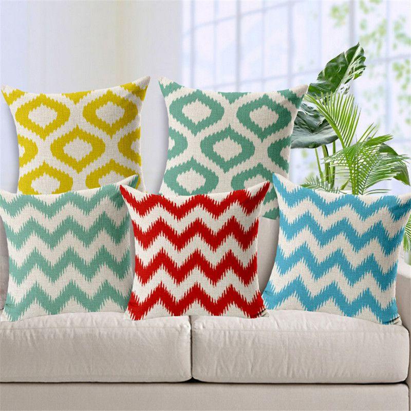 European style Geometric Round stripe wave decorative throw pillow