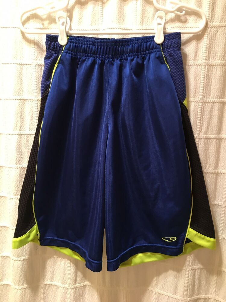 Boys Athletic Shorts Large 12-14 Basketball Workout Gym Running Knit Casual
