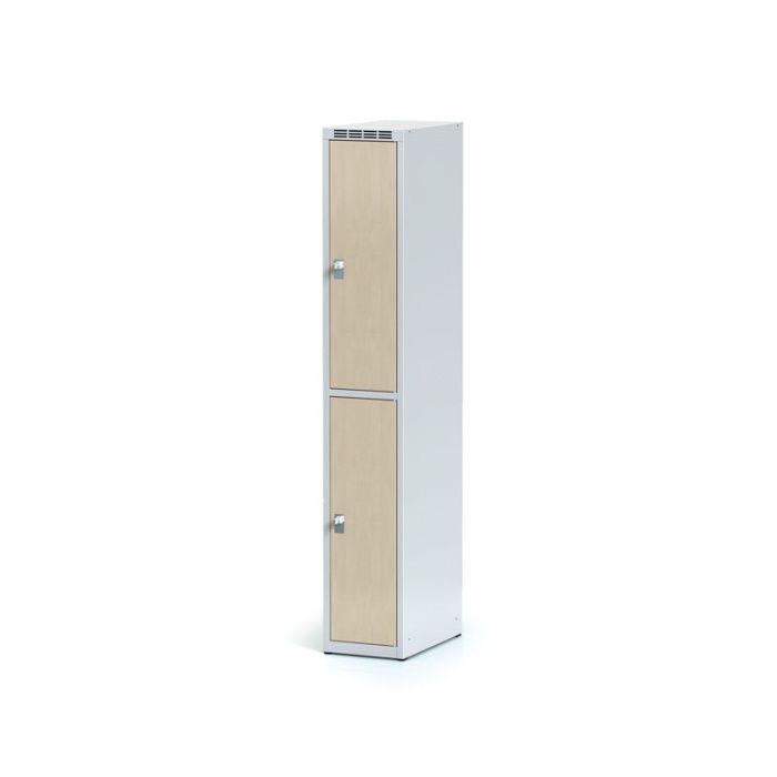 Wardrobe, 2 boxes 300 mm, laminated birch door, revolving …