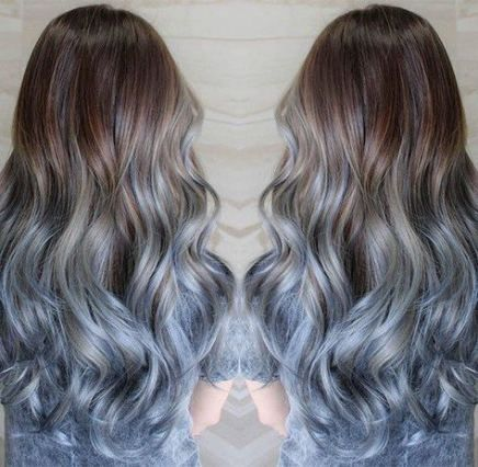 23 Super Ideas For Hair Blue Tips Brown Colored Hair Tips Blue Tips Hair Dyed Hair Blue
