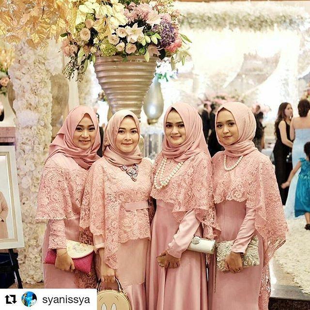 Model Baju Bridesmaid Hijab Brokat