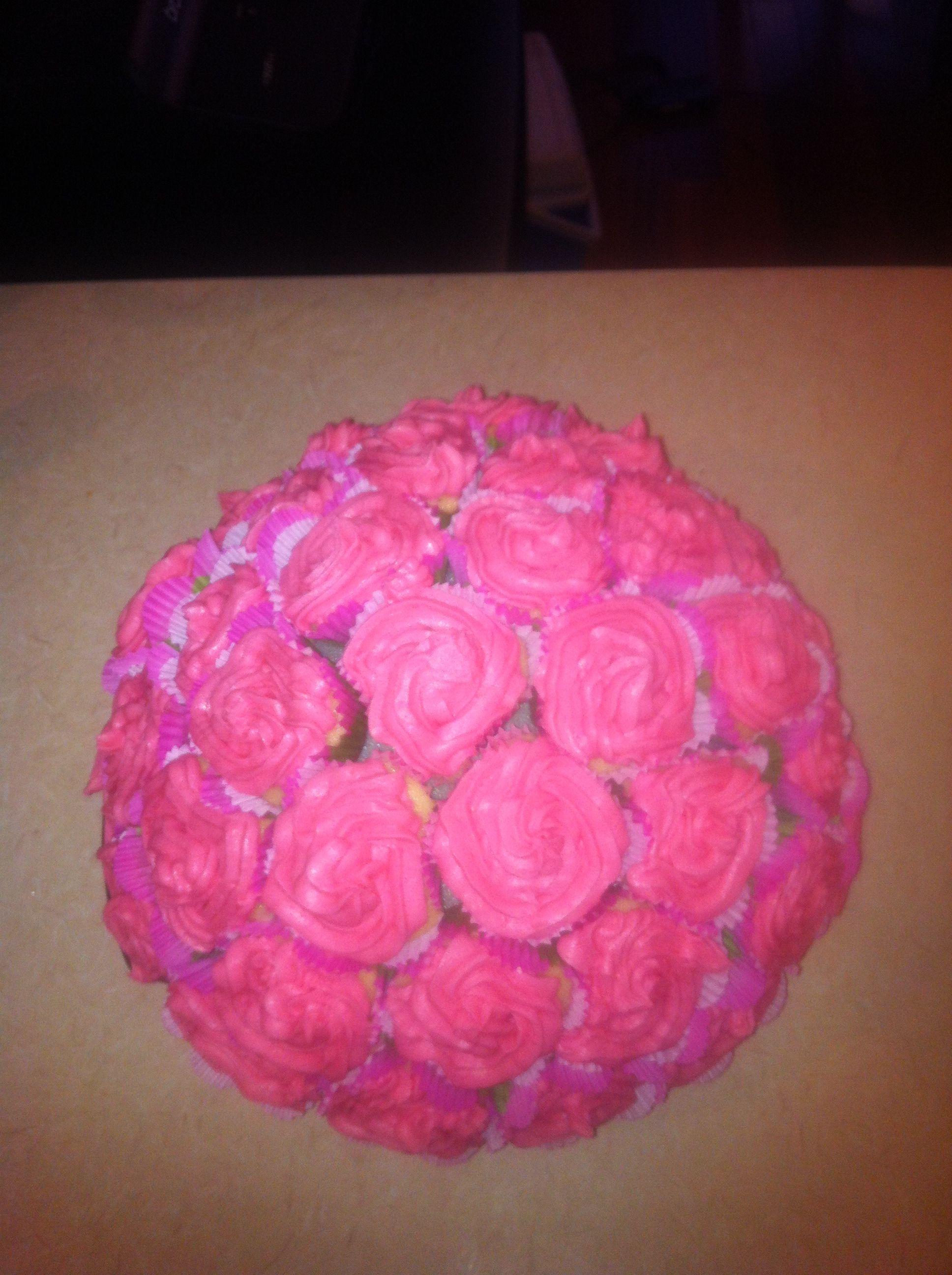 Mini Cupcake birthday cake