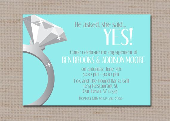 Engagement party invitation she said yes proposal by lovebabble engagement party invitation she said yes proposal by lovebabble 1300 etsy stopboris Image collections