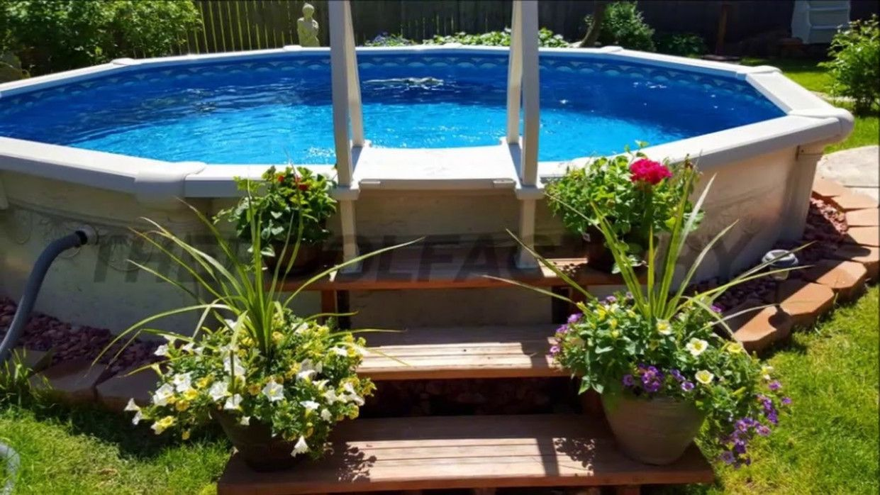 Stunning How To Build Above in 2020   Backyard pool, Above ...