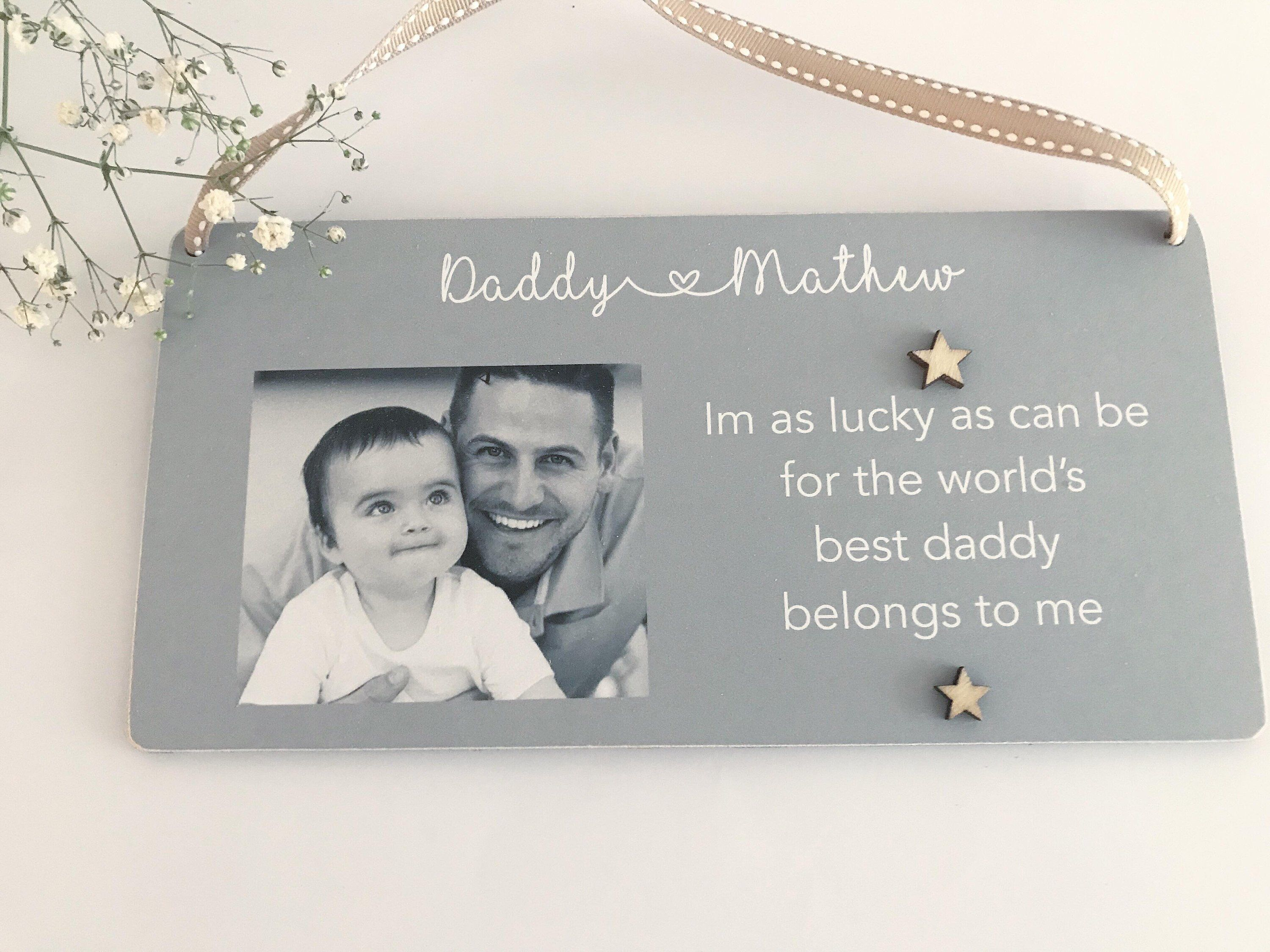 ab724b270312d Excited to share this item from my  etsy shop  Personalised Daddy Son  Daughter Photo Gift Fathers Day Christmas Birthday PMD002