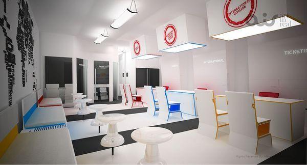 Make my trip travel office design by art in real via for Arredamento agenzia viaggi