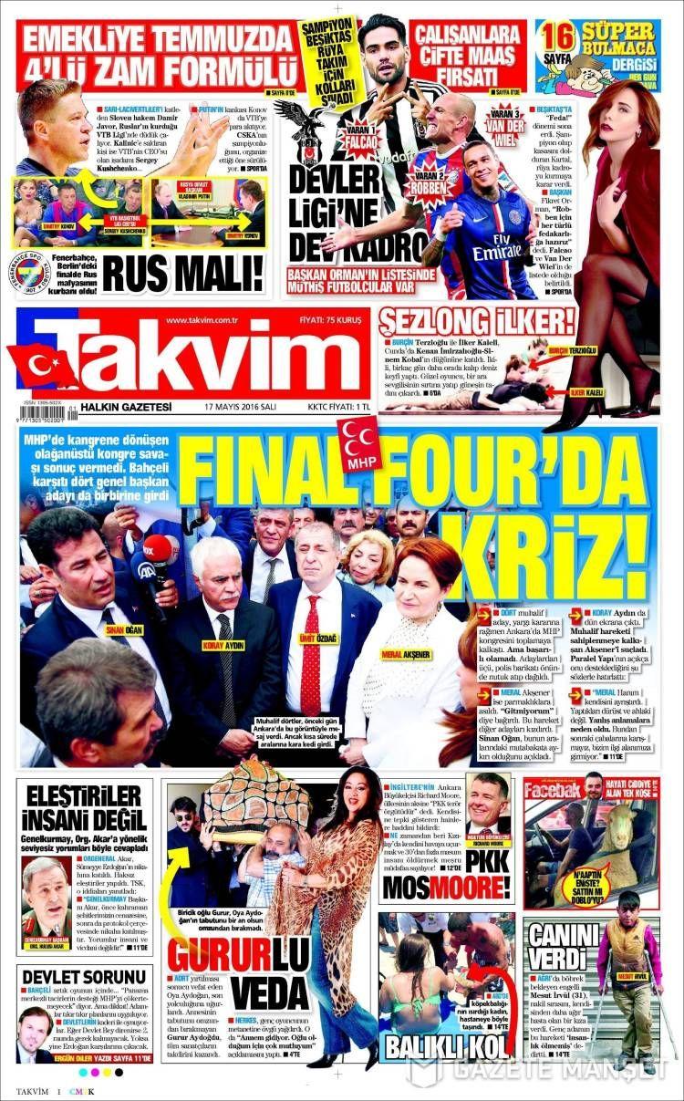#20160517 #TürkiyeHABER #TURKEY #TurkeyTodayNEWSpapers20160517 Tuesday MAY 17 2016 http://en.kiosko.net/tr/2016-05-17/ + http://www.trthaber.com/foto-galeri/gazete-mansetleri-17-mayis-2016/10459/sayfa-10.html <+> #TAKVIM20160517 http://en.kiosko.net/tr/2016-05-17/np/takvim.html