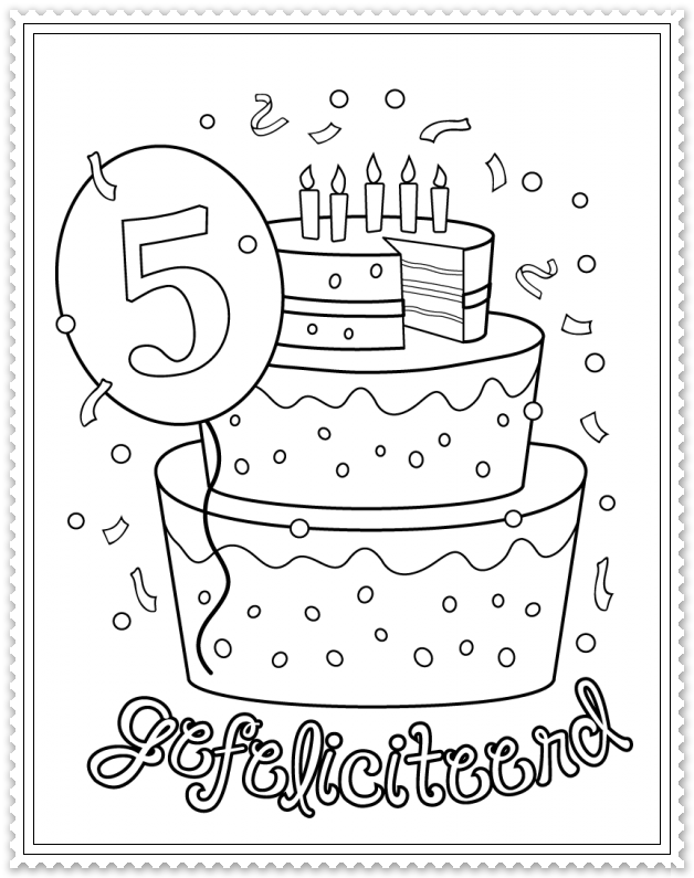 hoera 5 jaar verjaardag verjaardagskalender en