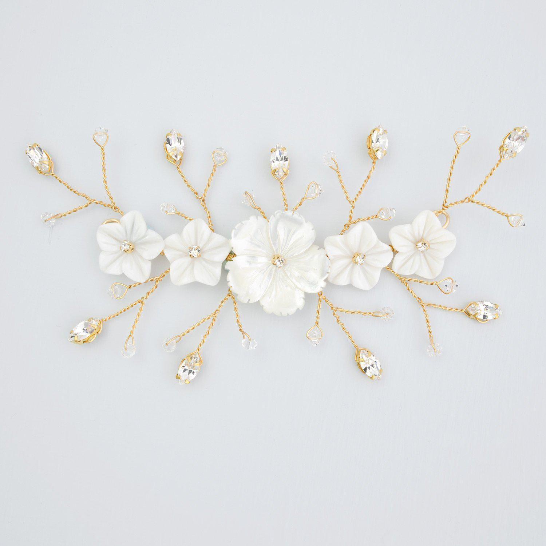 beautiful art deco hair accessories, hair pins, hair vines