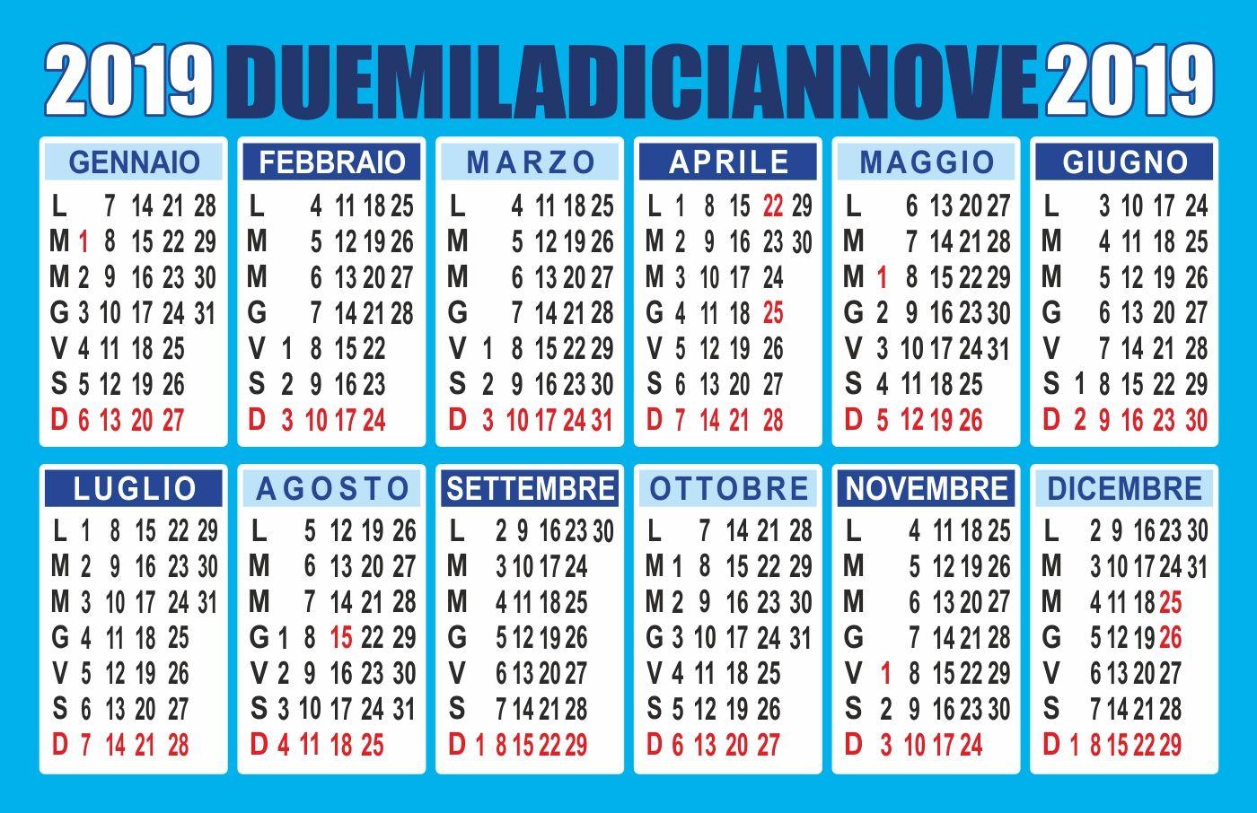 Giovanna D Anna Calendario.Calendario 2019 Pdf Lo Trovi Su Peppecau Com Calendario