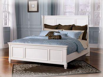 Ashley Prentice White King Panel Bed Bedroom Panel White King Panel Bed Bed Furniture