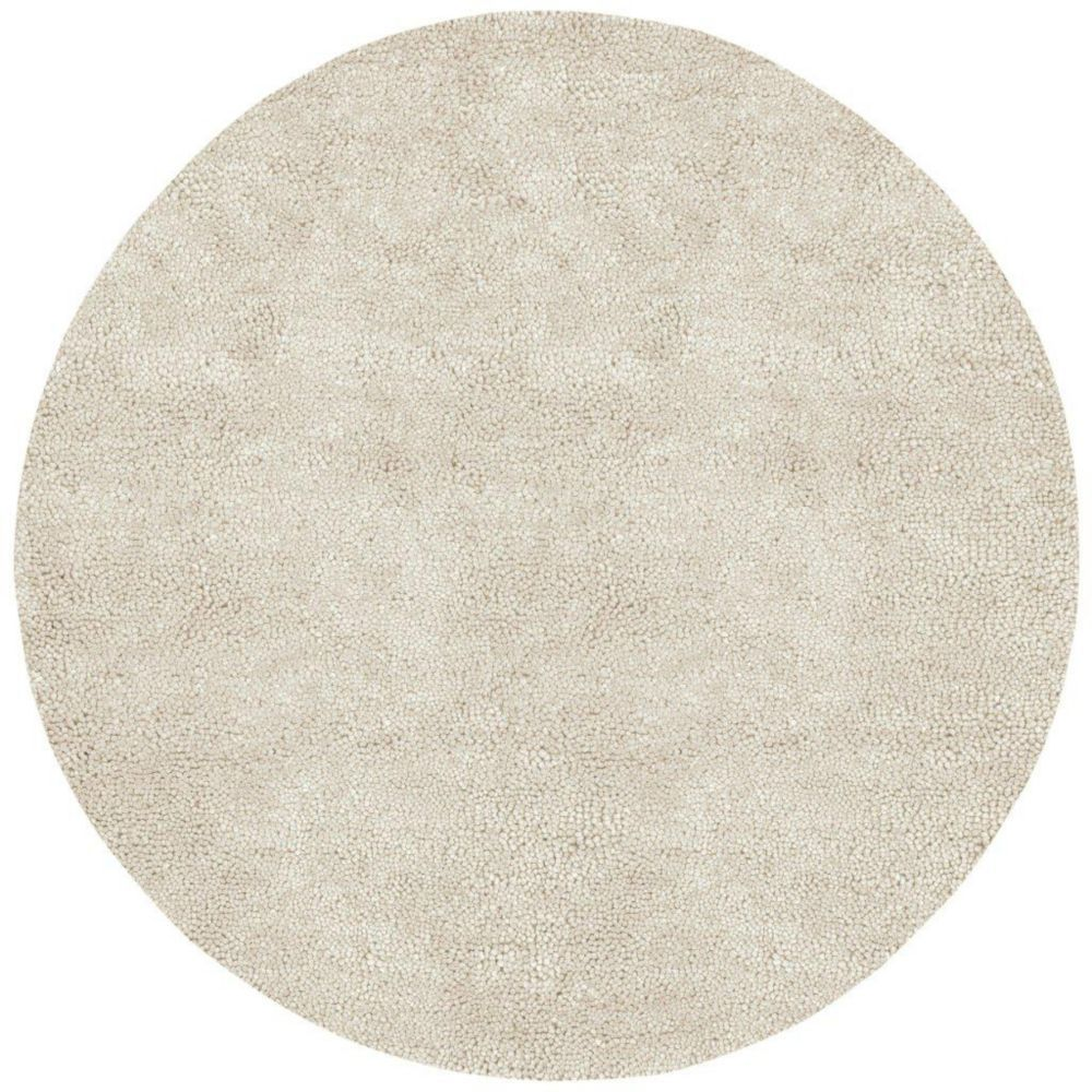 Adelanto Off White 10 Ft X 10 Ft Indoor Shag Round Area Rug