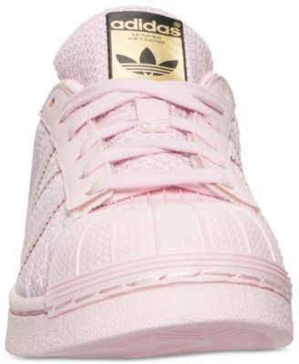 best website 4d2ee e6155 adidas Big Girls  Superstar Casual Sneakers from Finish Line - Pink 4.5