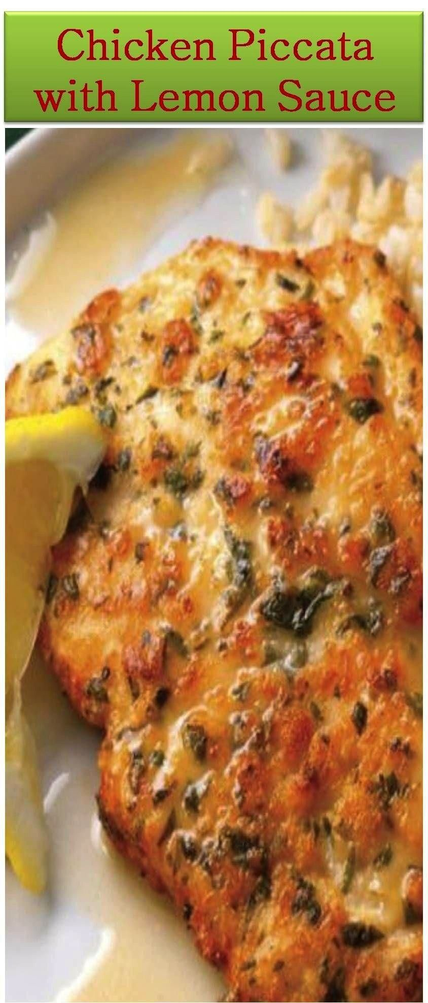 Best Chicken Piccata with Lemon Sauce Recipe  - New dinner ideas -The Best Chicken Piccata with Lem