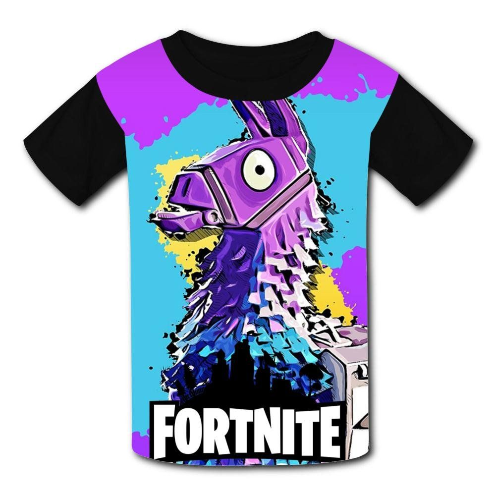 d670b87e3a5 Moitao Legree Kids Short Sleeve Shirt Black Fortress Night fortnite Llama  Sports Absorb Sweat Tee     Much more info can be located at the image link.