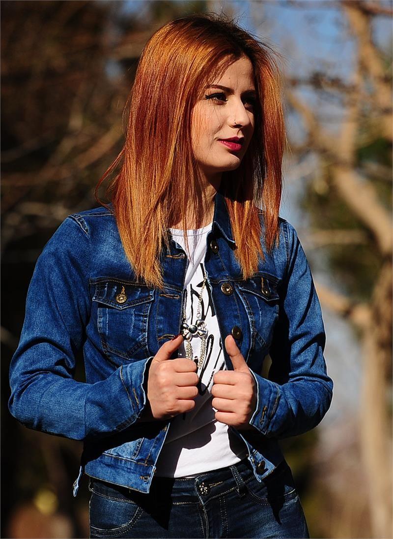 Bayan Kot Ceket Koyu Mavi Modelleri Ve Uygun Fiyat Avantaja Yla Modabenle Kot Ceket Moda Kotlar