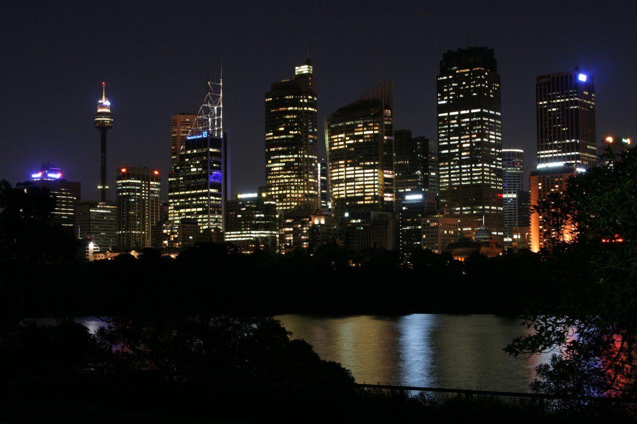 Skylines at night Sydney Skyline at Night Sydney