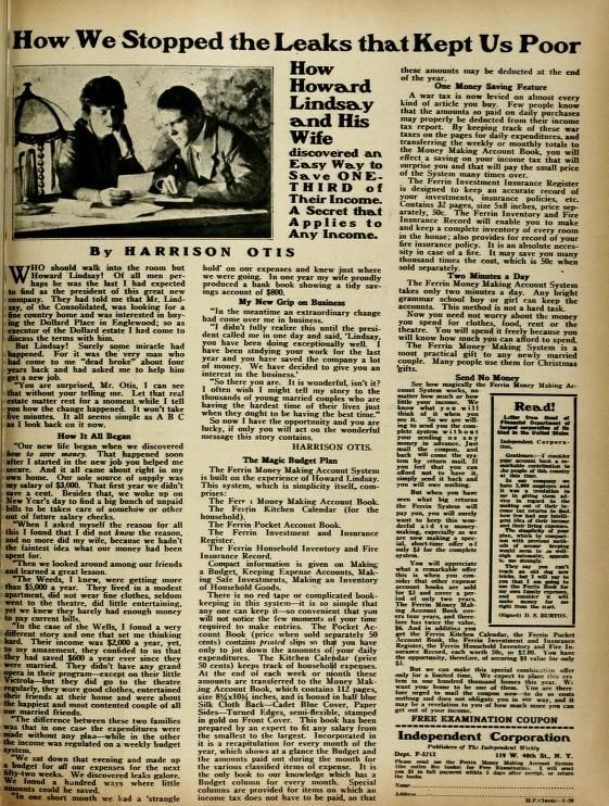 Motion Picture Classic (Jan-Dec 1920) Household Budgeting Pinterest - how to make a budget spreadsheet in openoffice