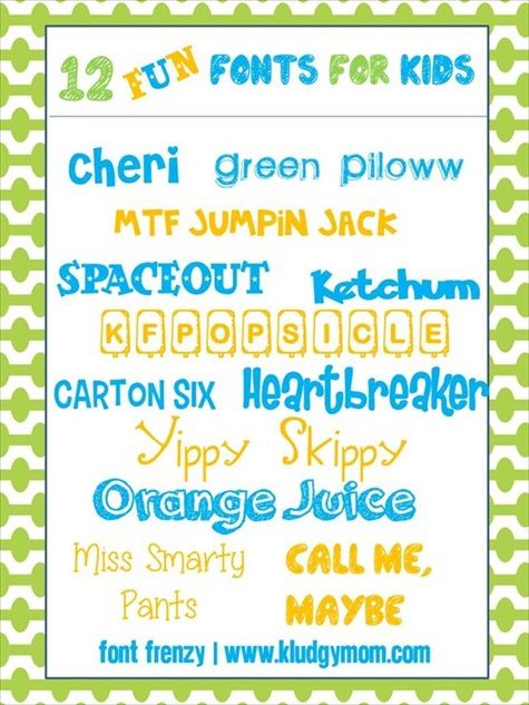 12 Fun Fonts For Kids