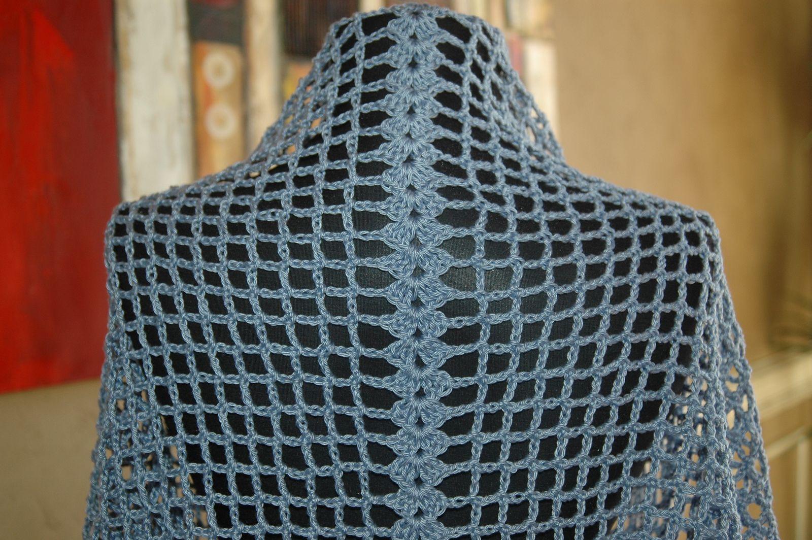 Ravelry: French Blue Shawl DK276 by Cristina Mershon