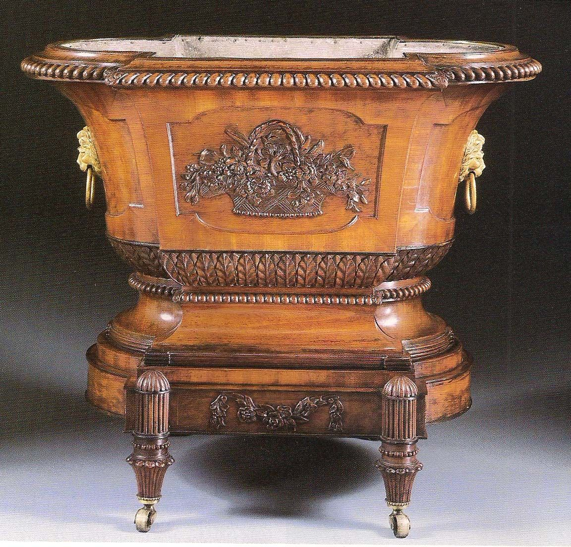 George III mahogany wine cooler, circa 1800,  from the workshop of George…
