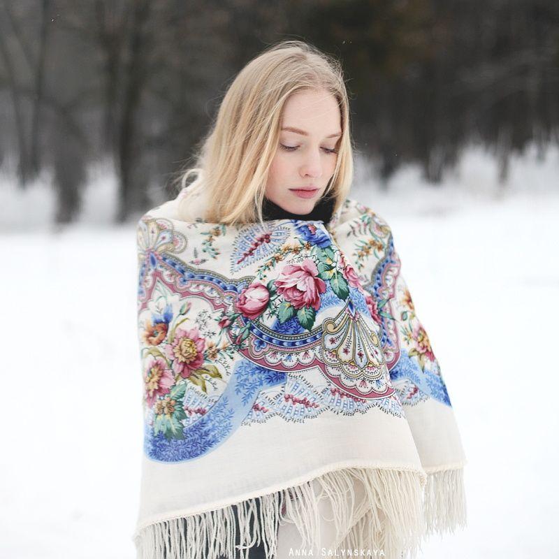 Павлопосадские платки на плечи русский стиль фото женственные