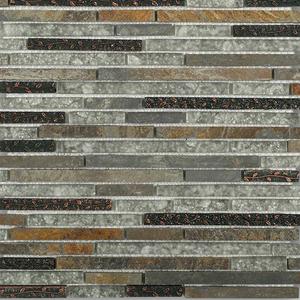 Arcadia Chinkapin Random Brick Glass & Slate Polished Mosaic Tile