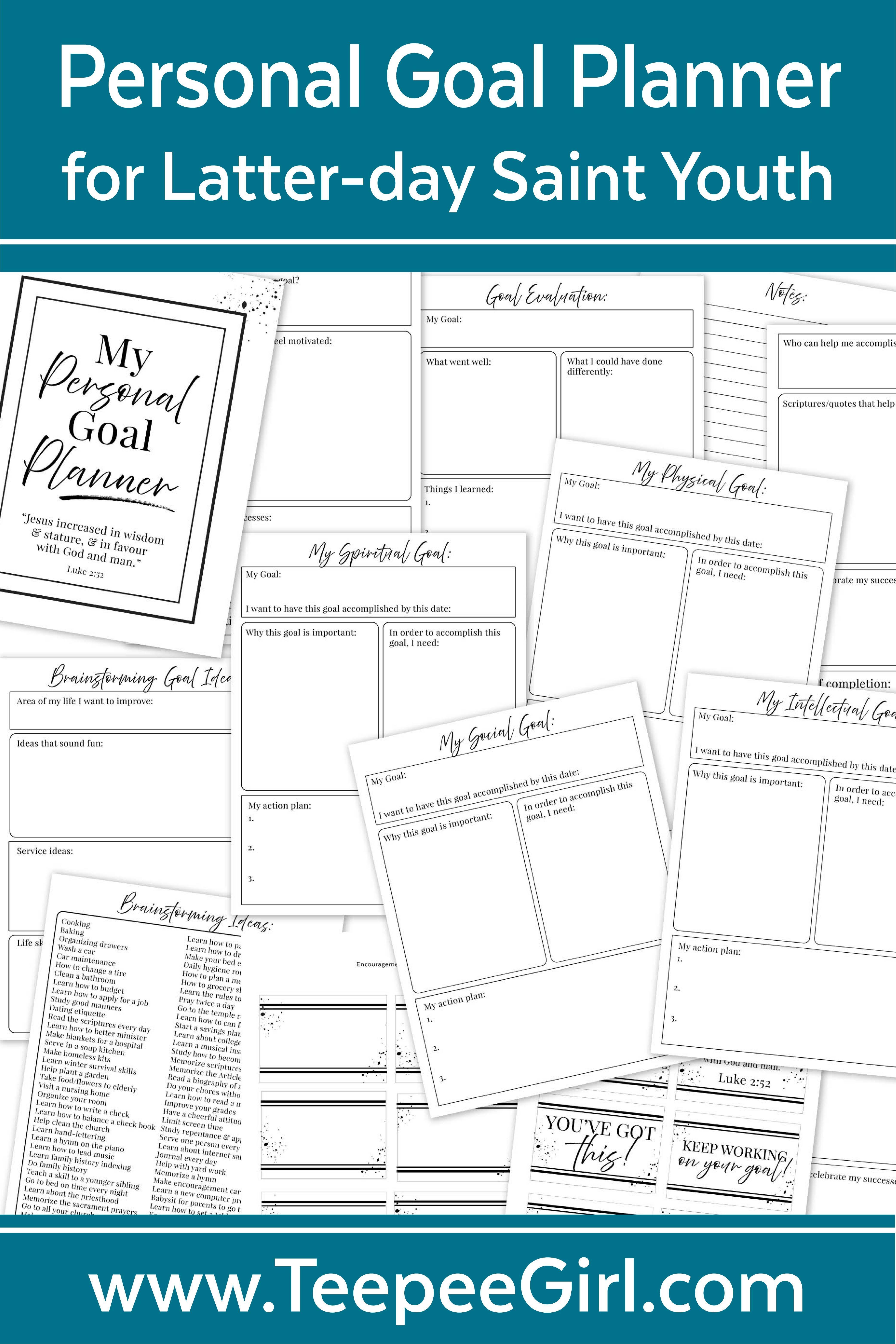 Personal Goal Planner Amp Journal For New Latter Day Saint
