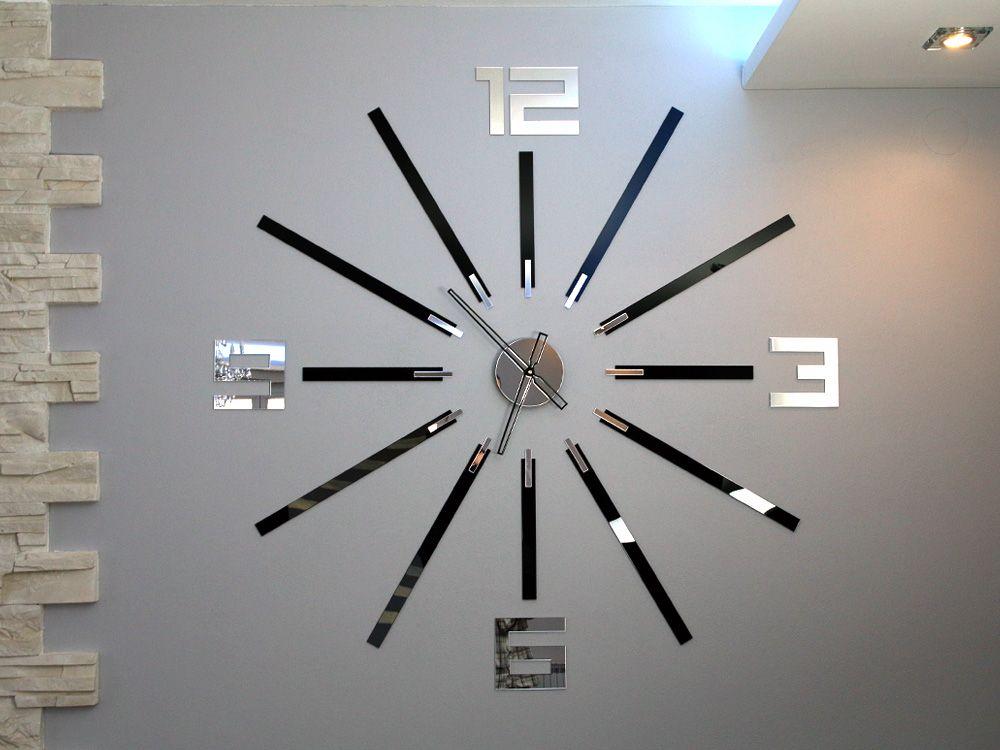 Zegar Scienny Big Duzy 115cm Lustro Nowoczesny Feature Wall Living Room Big Clocks Ceiling Fan