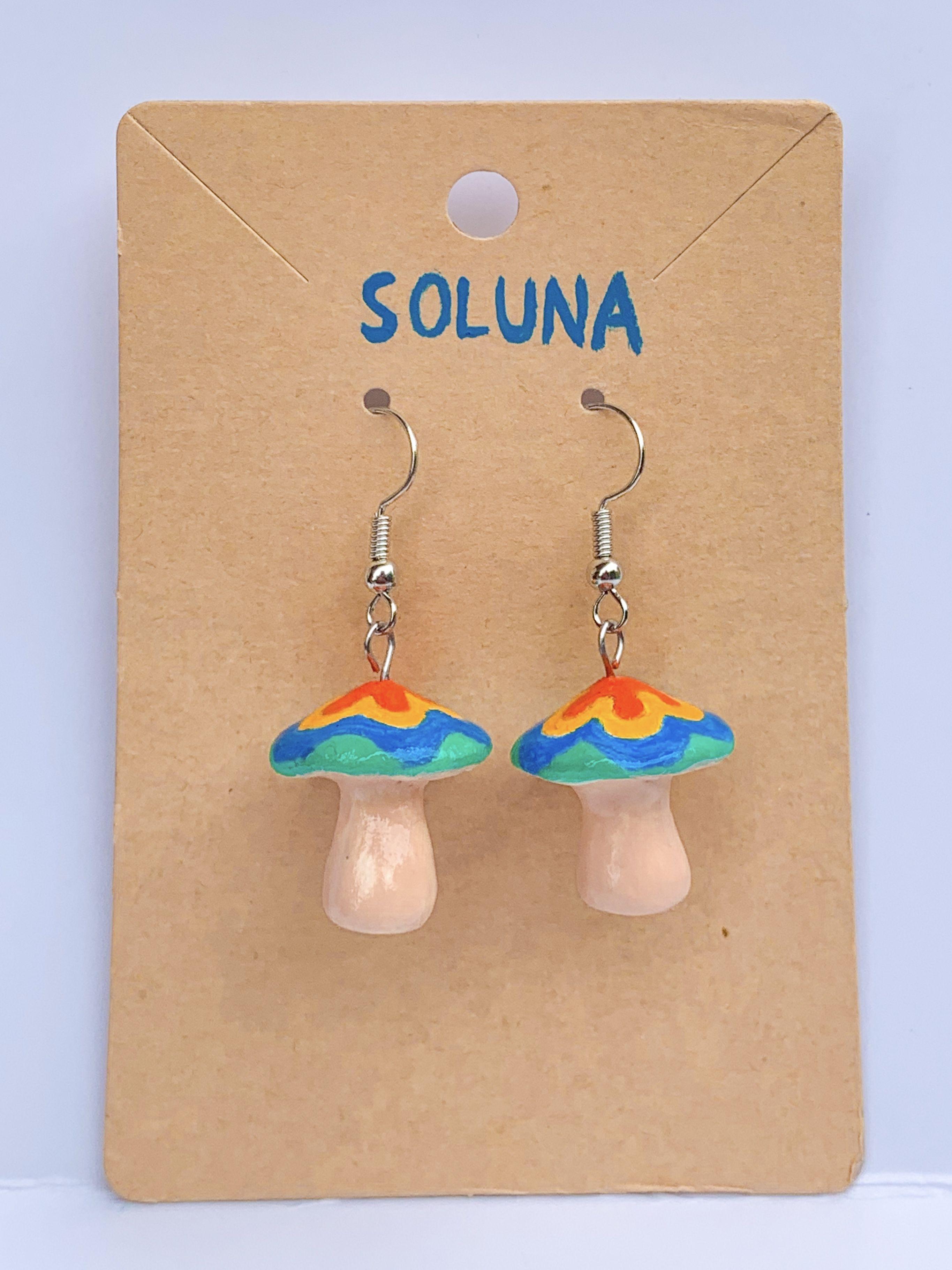 Dangle Drop Earring Handmade Earrings Polymer Clay Earrings Earring