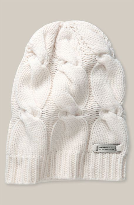Burberry Cable Knit hat | Tejidos en lana | Pinterest | Tejidos en ...